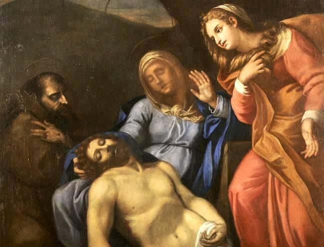 Attribuita alla scuola di Annibale Carracci la Pietà dell'Oratorio della Misericordia