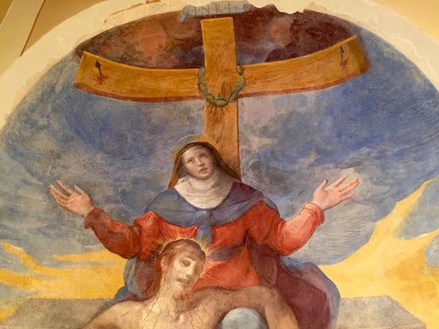 """""""La Pietà"""" ritrova il suo splendore. Restaurato l'affresco della Chiesa di Sant'Erasmo"""