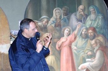 Don Andrea Pilato al corso di formazione di volontari in valorizzazione dei beni culturali ecclesiastici