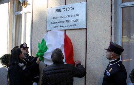 Dedicata a Giandomenico Pistonami la Biblioteca militare di presidio nella Scuola sottufficiali dell'esercito in Viterbo