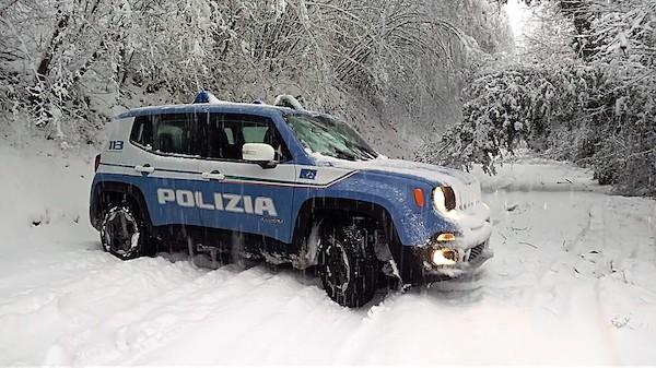 Neve e gelo per l'arrivo di Burian, grande impegno della Polizia di Stato nel fine settimana