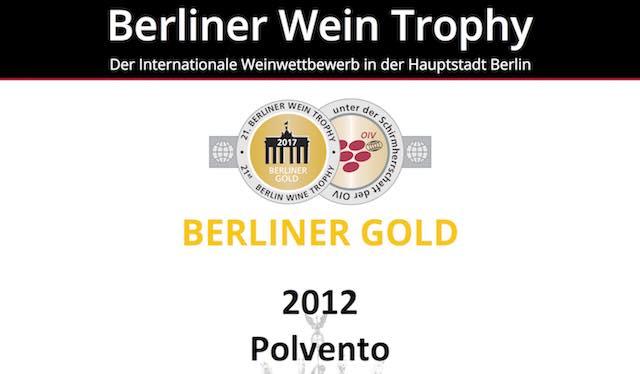 Da Corbara a Berlino, Medaglia d'Oro al Polvento della Cantina Barberani