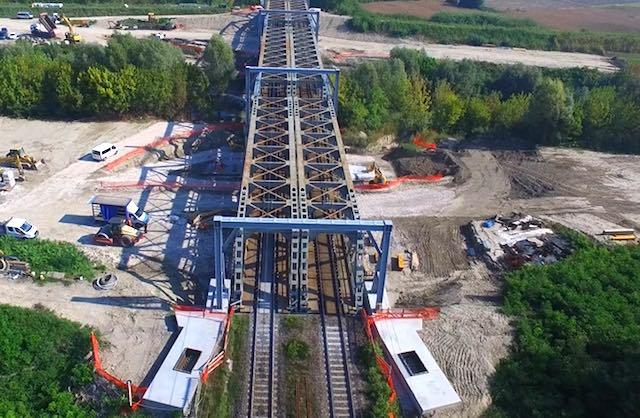 Primo intervento di retrofit di un ponte ferroviario per la Ceprini Costruzioni