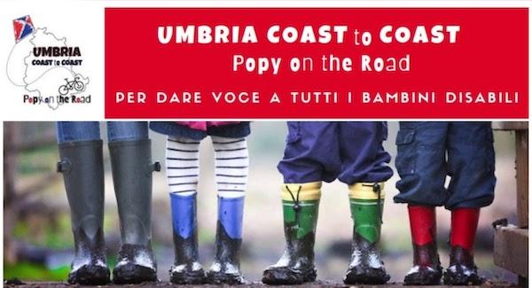 """""""Umbria Coast to Coast"""", 25 tappe per Popy e tutti i bambini con disabilità"""