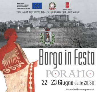 Borgo in Festa a Porano. Promozione delle peculiarità del territorio e delle sue ricchezze culturali