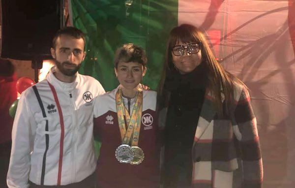 Festa in piazza per la giovanissima atleta Elisa Vincenzini
