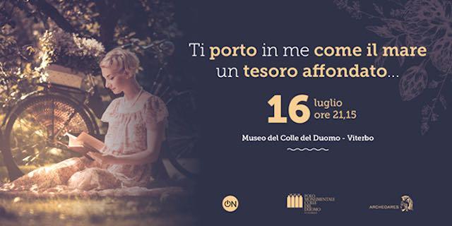 """Al Museo del Colle del Duomo """"Ti porto in me come il mare un tesoro affondato"""""""