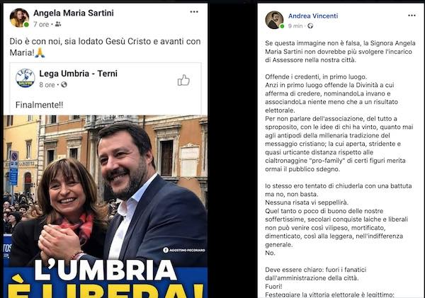 Il post dell'assessore Sartini finisce in Consiglio Comunale