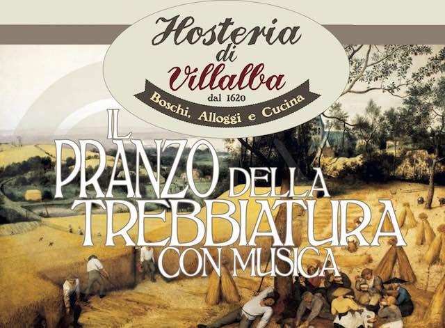 """All'Hosteria di Villalba, il """"Pranzo della Trebbiatura"""" con musica"""