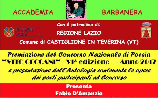 """Cerimonia di premiazione del Concorso Nazionale di Poesia """"Vito Ceccani"""""""