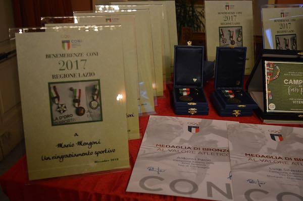 In Sala Consiliare, il Coni premia le eccellenze sportive della Tuscia