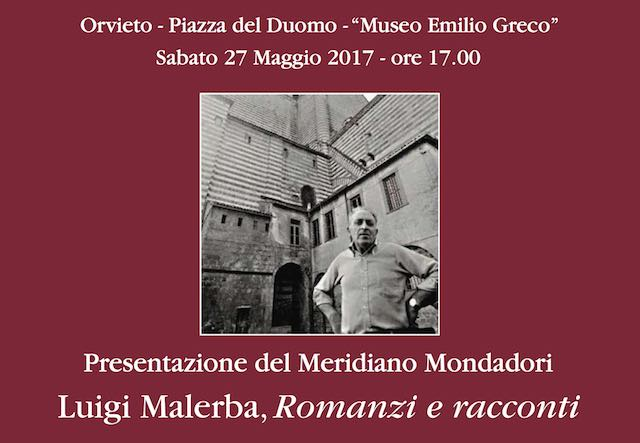 Presentazione del Meridiano Mondadori dedicato allo scrittore Luigi Malerba