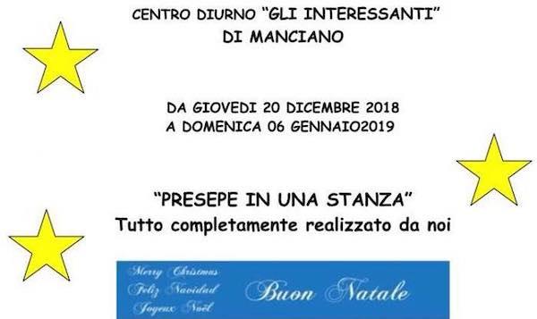 """""""Presepe in una Stanza"""" al Centro Diurno """"Gli Interessanti"""""""