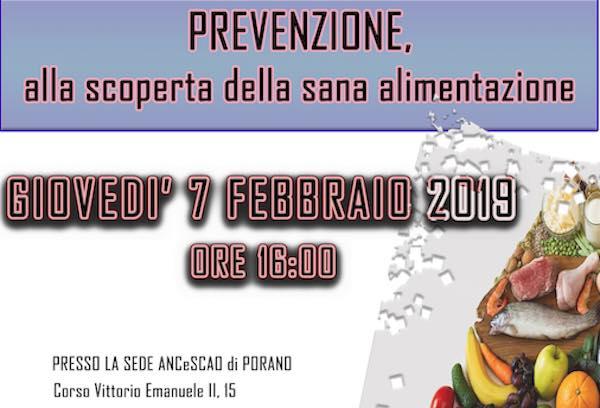"""""""Prevenzione, alla scoperta della sana alimentazione"""" con OCC e Ancescao"""