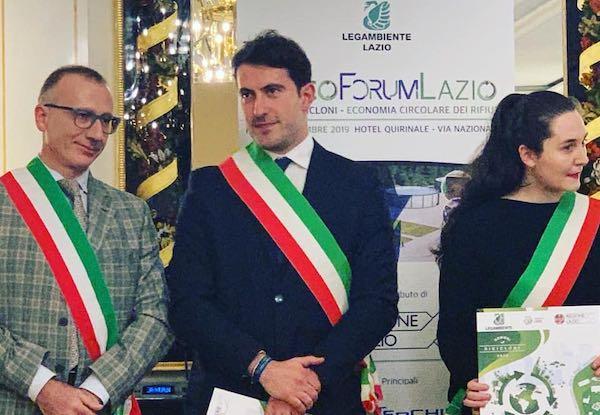 """Differenziata, Bagnoregio eccellenza del Lazio. A Roma il premio come """"Comune riciclone"""""""