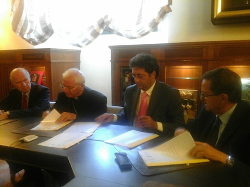 Firmato l'accordo per recuperare e rilanciare Palazzo Monaldeschi