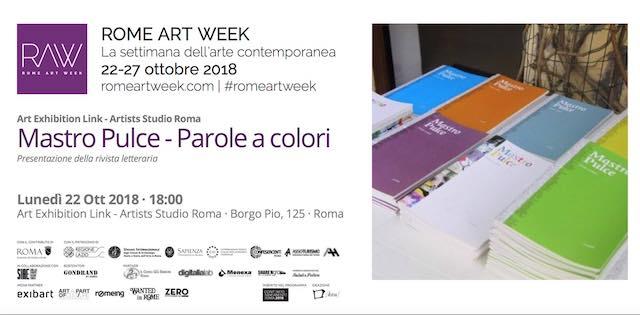"""Presentazione della rivista """"Mastro Pulce"""" nell'ambito di Rome Art Week 2018"""