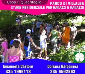 Stage residenziali per ragazzi dagli 11 ai 14 anni presso il Parco di Villalba: 4/7 luglio - 11/14 luglio. Iscrizioni entro il 25 giugno 2011