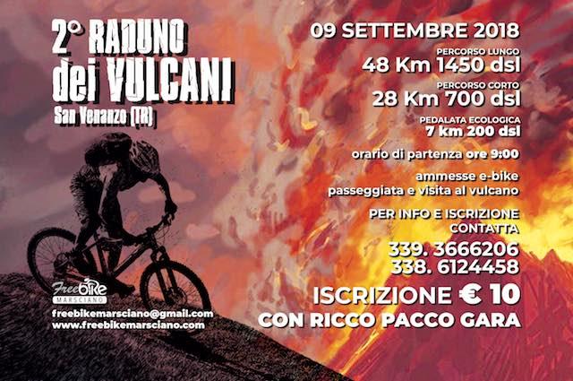 Due percorsi per il secondo Raduno dei Vulcani