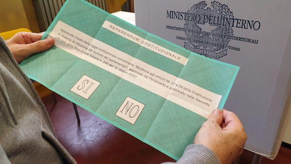 Referendum, a Orvieto il Sì ha ottenuto 4.889 voti (65,26%), il No 2.603 voti (34,74%)