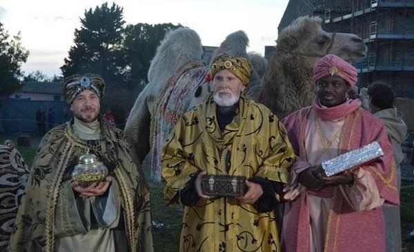 Anche i Re Magi in visita al Presepe Vivente