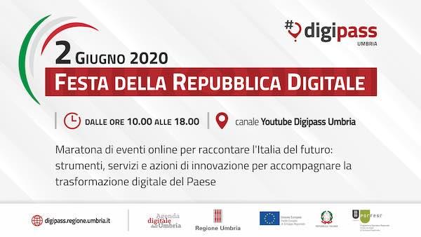 Festa della Repubblica Digitale. Maratona di eventi online dei DigiPass Umbria