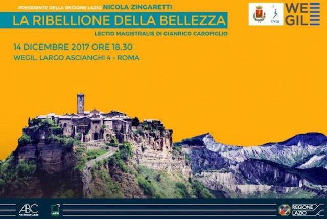 """Lectio Magistralis di Gianrico Carofiglio su """"La Ribellione della Bellezza"""""""