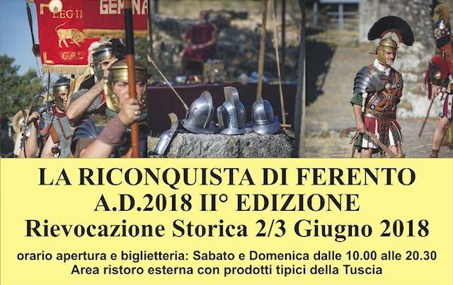 """""""La Riconquista di Ferento"""". Seconda edizione per la rievocazione storica"""