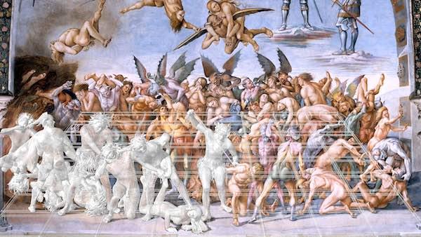 """""""I Dannati di Signorelli"""". Interpretazione tridimensionale di Cesare Pergola"""