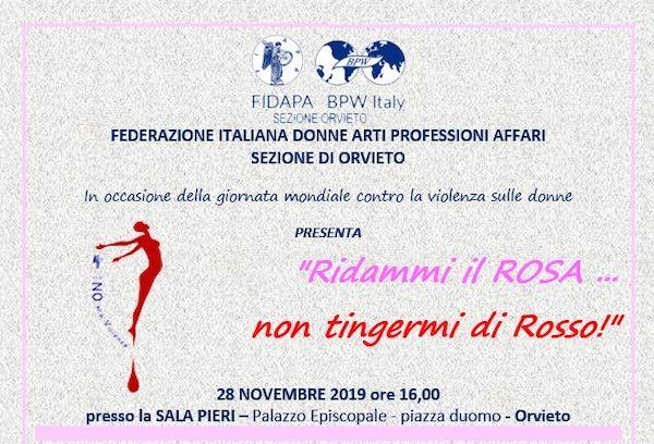 """Conferenza Fidapa Bpw Italy """"Ridammi il rosa, non tingermi di rosso"""""""