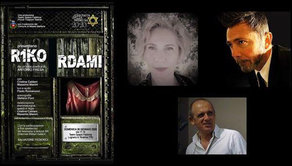 """Per la Giornata della Memoria, al Teatro Spazio Fabbrica va in scena """"R1kordami"""""""