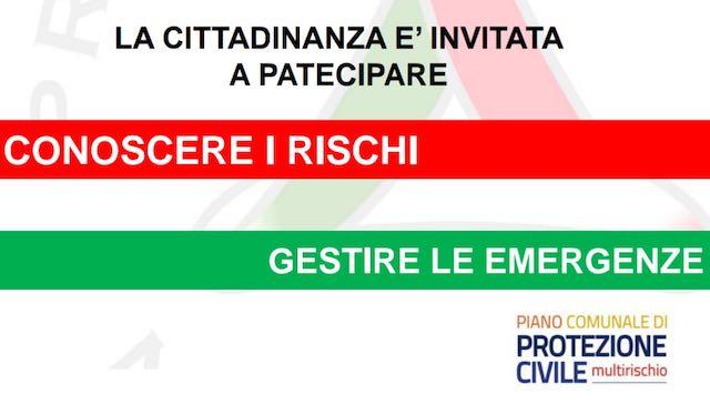 Si presenta il Piano di emergenza comunale di Protezione Civile