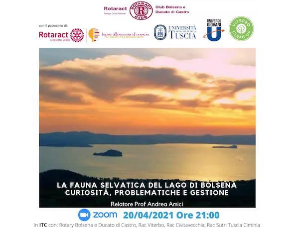 """Webinar """"La fauna selvatica del Lago di Bolsena: curiosità, problematiche e gestione"""""""