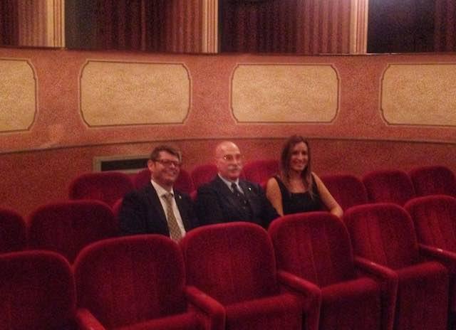 Il sottosegretario ai beni culturali Bergonzoni in visita al Teatro dei Rustici