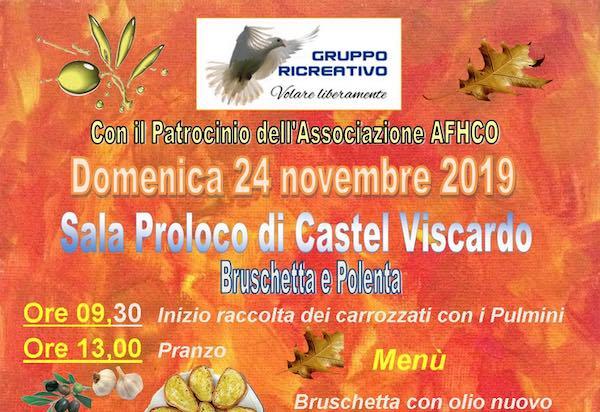 Bruschetta e polenta nella Sala della Pro Loco con l'AFHCO