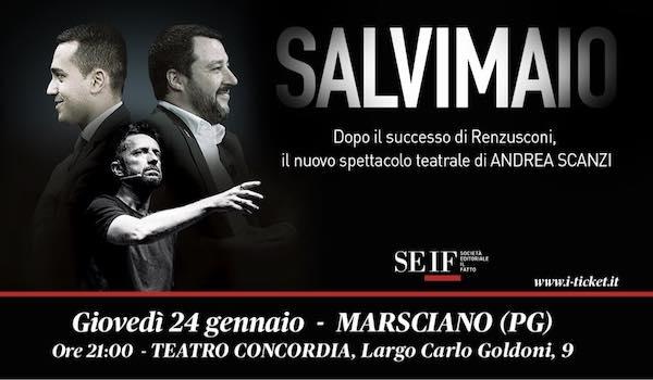 """Andrea Scanzi al Teatro Concordia con lo spettacolo """"Salvimaio"""""""