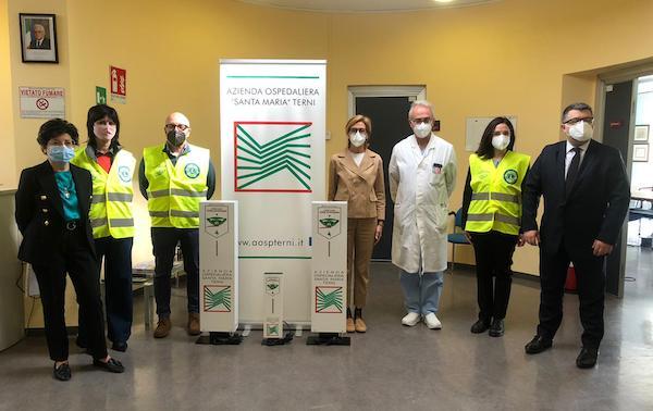 """Donati tre sanificatori altamente performanti all'Azienda Ospedaliera """"Santa Maria"""""""