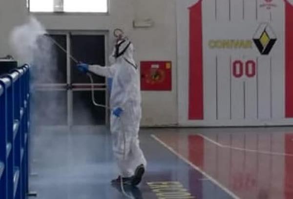 Effettuata la sanificazione al Palazzetto dello Sport di Porano