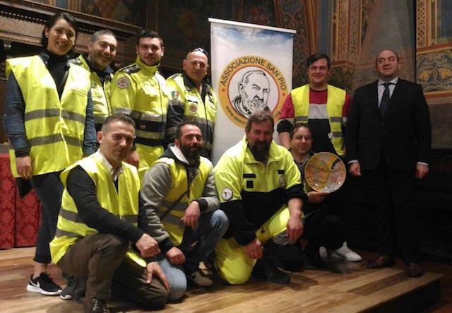 """""""Premio Internazionale San Pio da Pietralcina"""" alla Protezione Civile"""