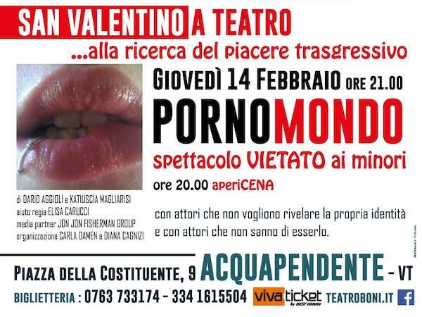 """PornoMondo"" al Teatro Boni per un San Valentino alternativo"