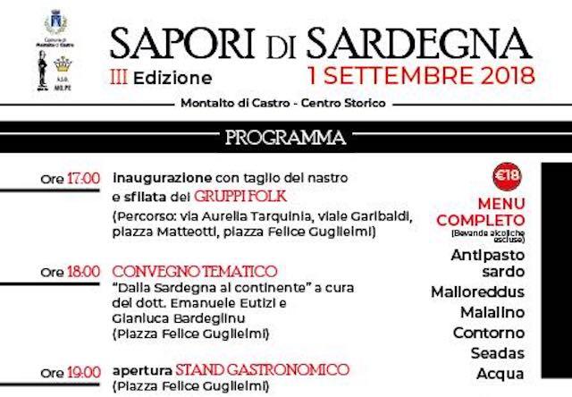 """Terza edizione di """"Sapori di Sardegna"""" nel cuore della Maremma"""