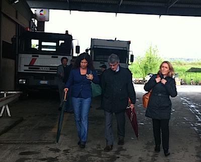 Lorena Pesaresi a Orvieto con con David Sassoli. Sopralluogo alla Tione Srl e alle aziende alluvionate