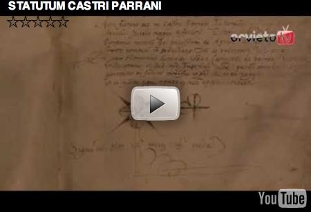 """Presentazione """"STATUTUM CASTRI PARRANI"""""""