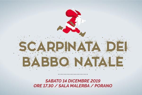 """Torna per solidarietà la """"Scarpinata dei Babbo Natale"""""""