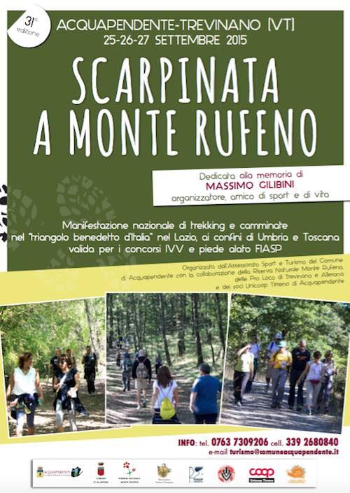 """""""Scarpinata a Monte Rufeno"""". A piedi nel verde, nel nome di Massimo Gilibini"""
