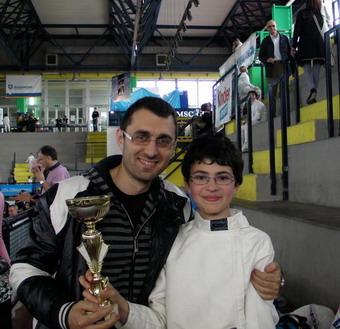 Davide Lo Conte, primo orvietano a conseguire il titolo di Maestro di Scherma