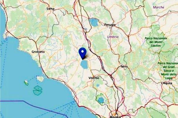 Avvertite scosse di terremoto nell'Alto Lazio