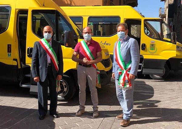 5 nuovi scuolabus a metano per Monteleone di Orvieto, Montegabbione e Parrano