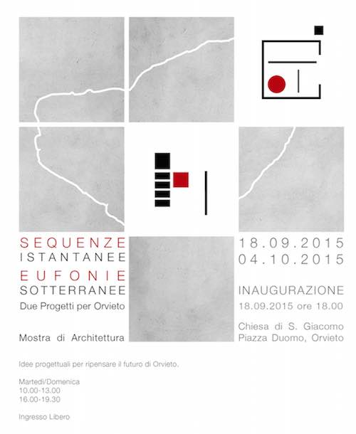 """Sequenze istantanee, eufonie sotterranee. Due progetti per Orvieto"" in mostra"