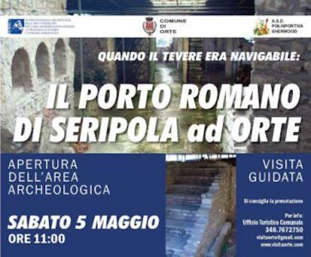 """""""Quando il Tevere era navigabile: il Porto Romano di Seripola"""". Si inaugura l'area archeologica"""